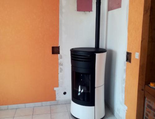 Démontage de cheminée et pose d'un poêle à granule