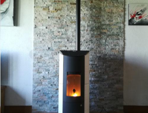 Démontage d'un cheminée et pose d'un poêle à granule